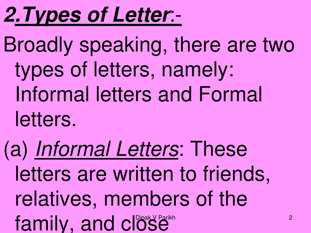 Types Of Letter Writing from image1.slideserve.com