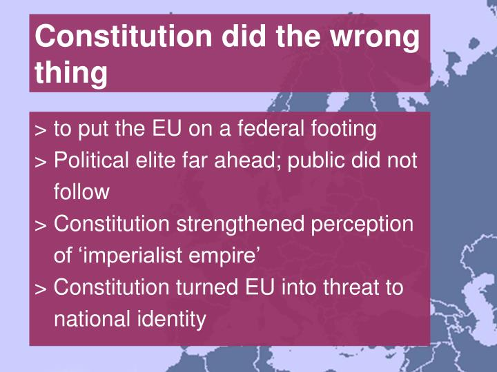 Constitution did the wrong thing