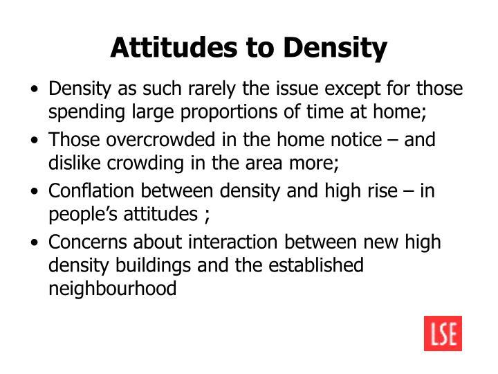 Attitudes to Density