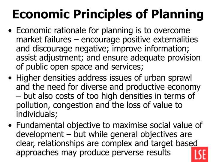 Economic Principles of Planning