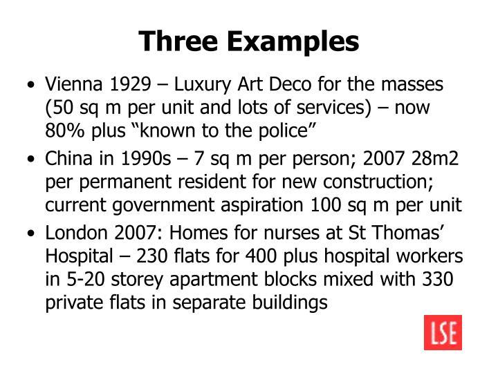 Three Examples