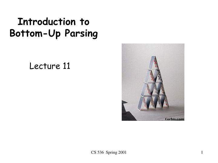 introduction to bottom up parsing n.