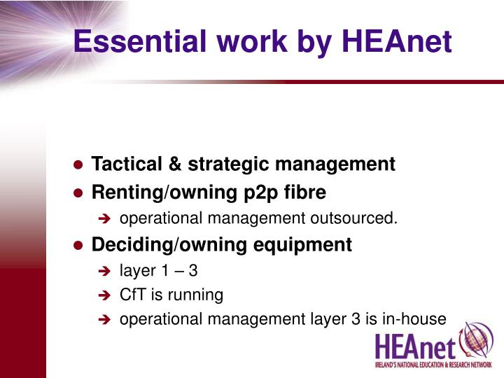 Essential work by HEAnet
