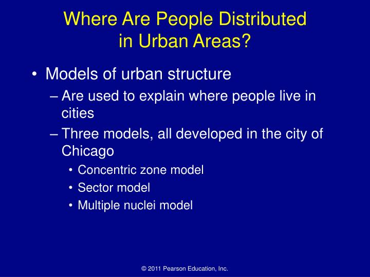 Where Are People Distributed