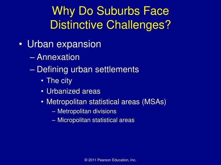 Why Do Suburbs Face