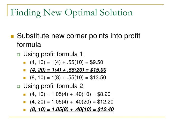 Finding New Optimal Solution