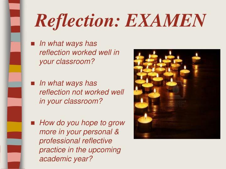 Reflection: EXAMEN