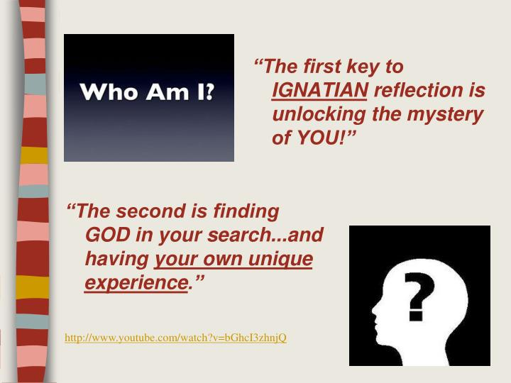 """""""The first key to"""