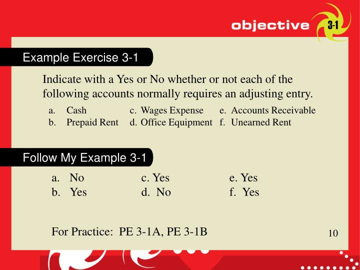 Example Exercise 3-1