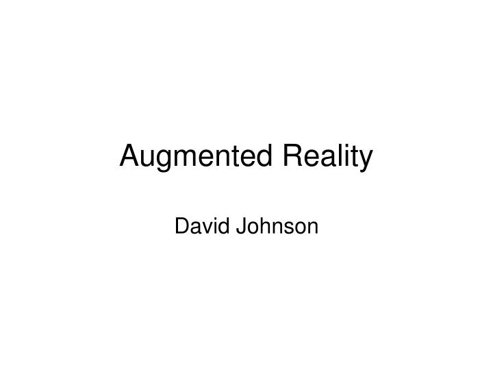 augmented reality n.