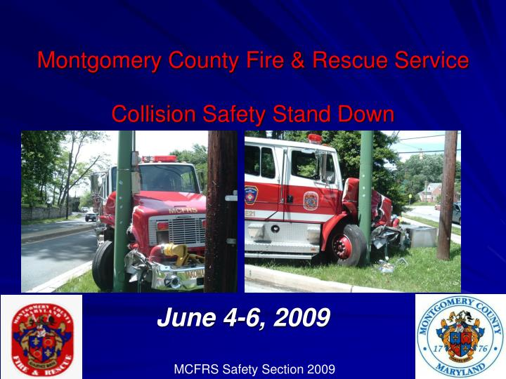 montgomery county fire rescue service collision safety stand down n.