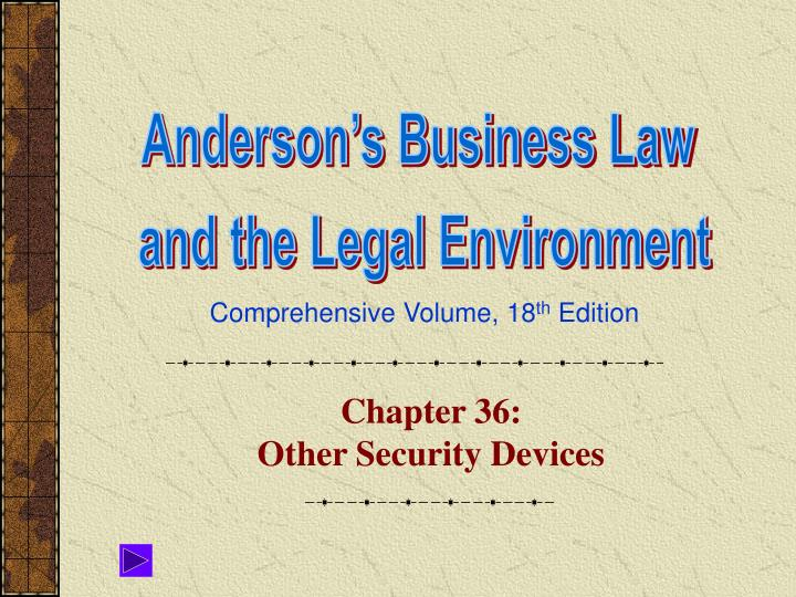 chapter 36 other security devices