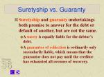 suretyship vs guaranty