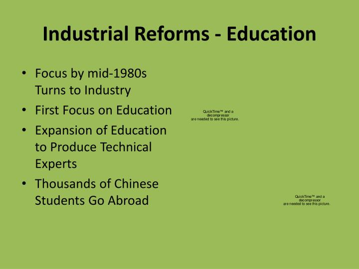 Industrial Reforms - Education