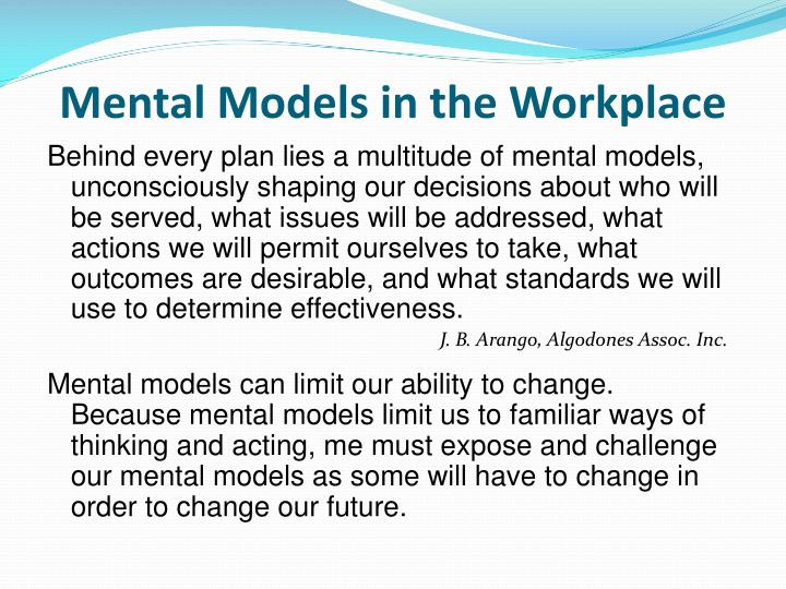 Mental Models in the Workplace