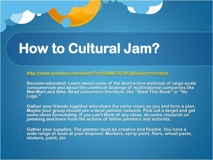 How to Cultural Jam?