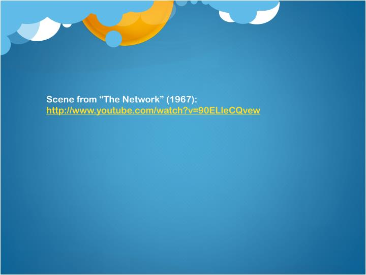 """Scene from """"The Network"""" (1967):"""