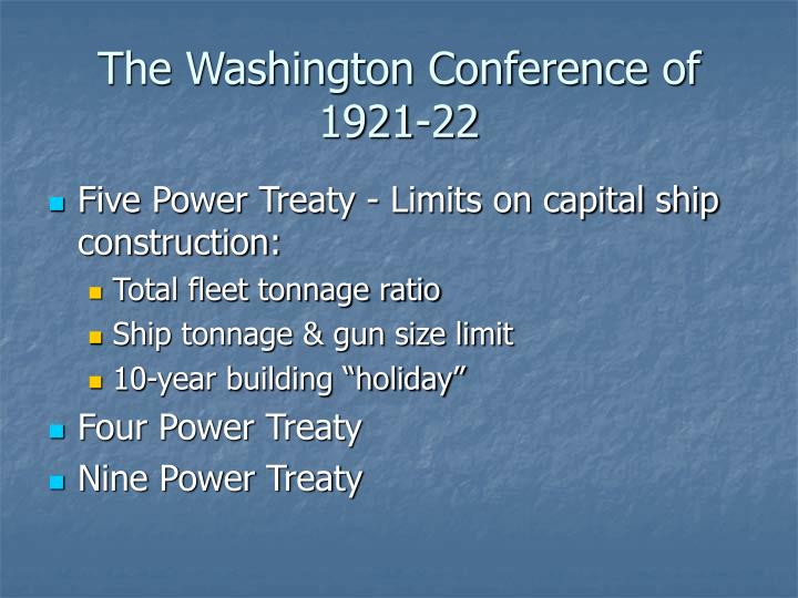 The Washington Conference of 1921-22