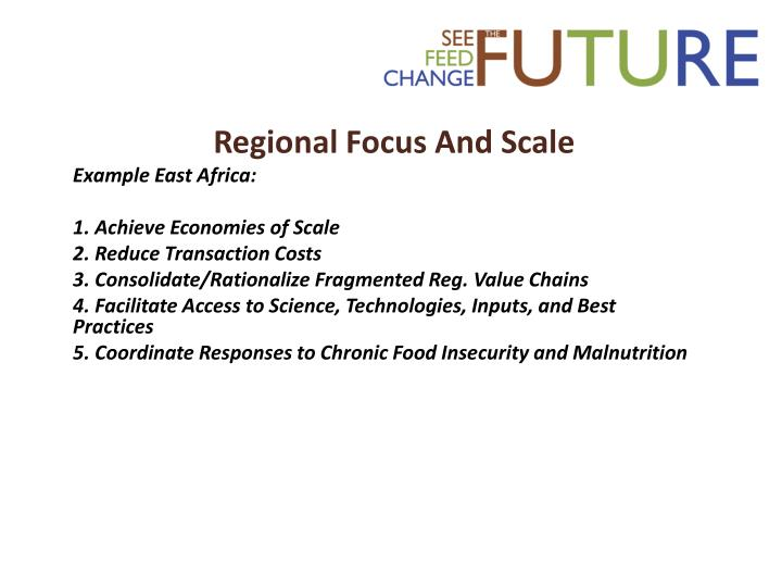 Regional Focus And Scale