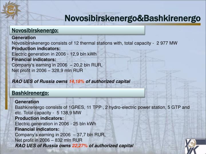 Novosibirskenergo&Bashkirenergo