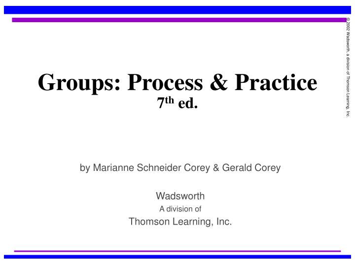 Ppt Groups Process Practice 7 Th Ed Powerpoint Presentation