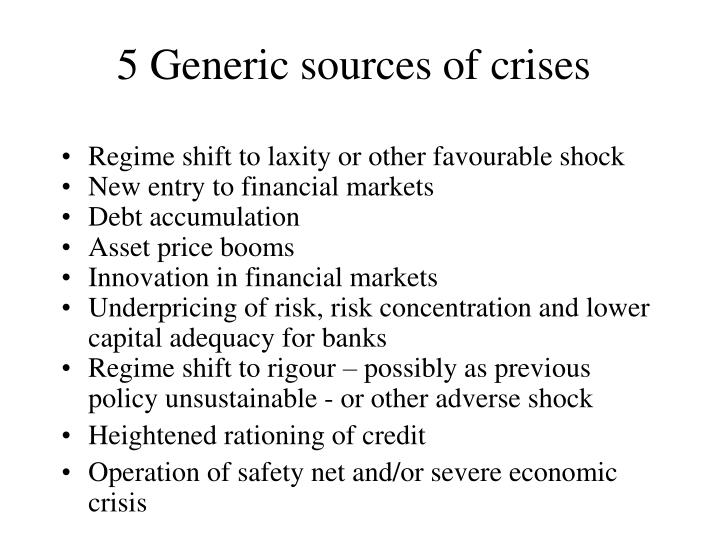 5 Generic sources of crises