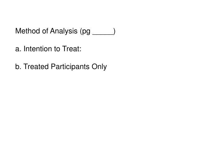 Method of Analysis (pg _____)