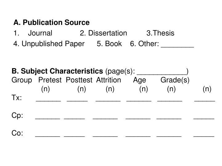 A. Publication Source