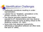 identification challenges