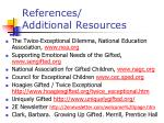 references additional resources