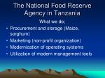 the national food reserve agency in tanzania1