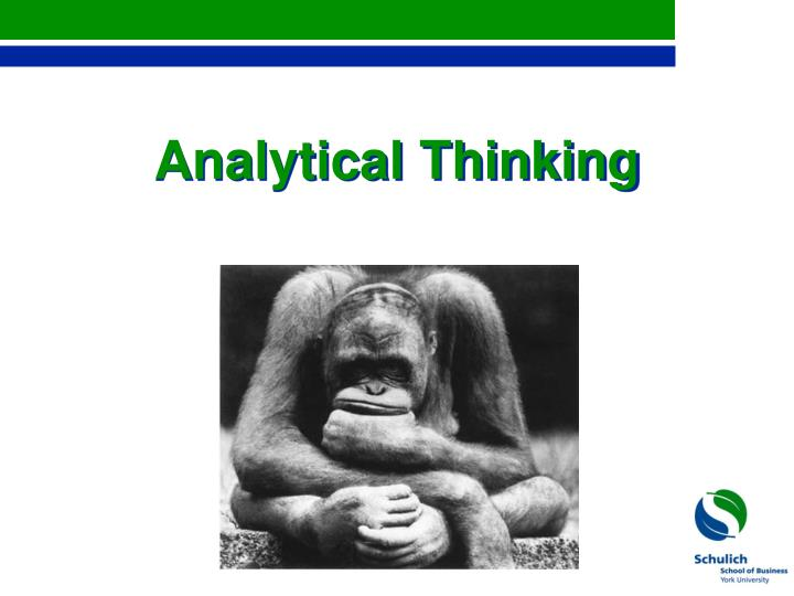 analytical thinking n.