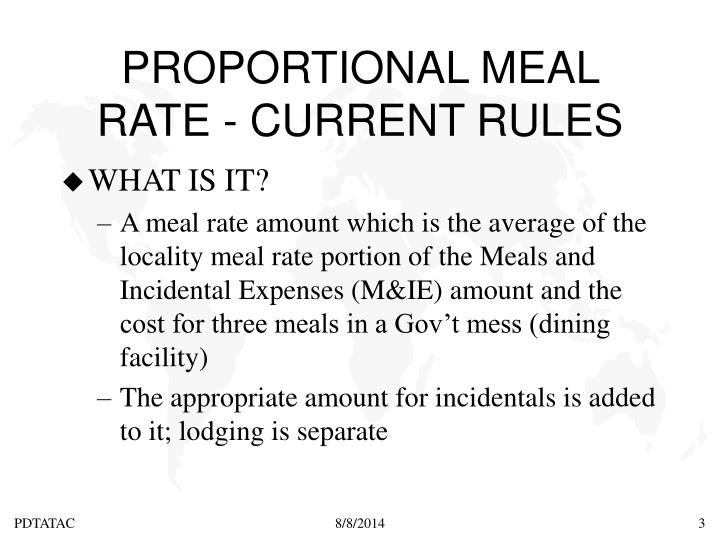 Proportional meal rate current rules2