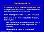 land constraints