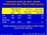 long term action for agric growth double public agric r d to impact poverty