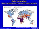 water constraints areas of physical and economic water scarcity