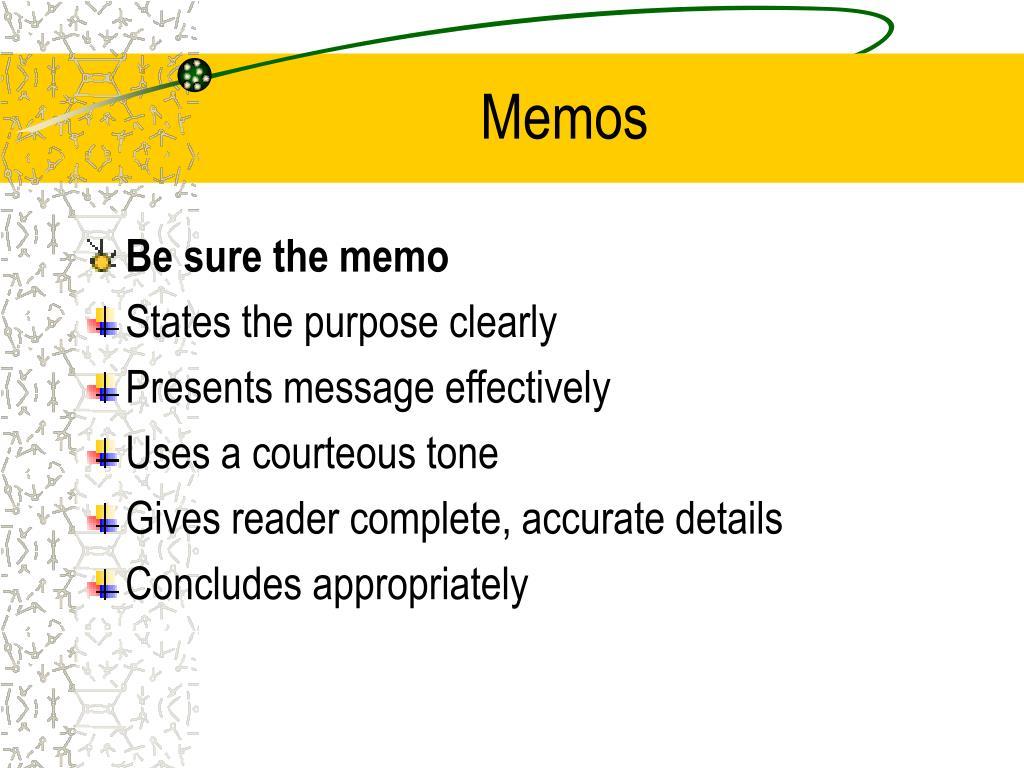 PPT - Writing a Memorandum PowerPoint Presentation, free ...