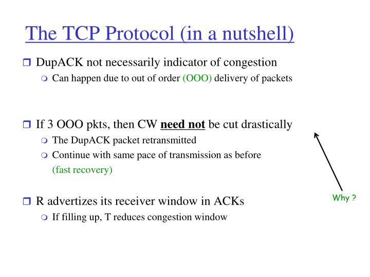 The TCP Protocol (in a nutshell)