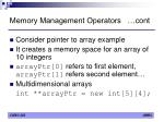 memory management operators cont2