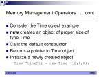 memory management operators cont3