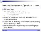 memory management operators cont7