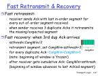 fast retransmit recovery
