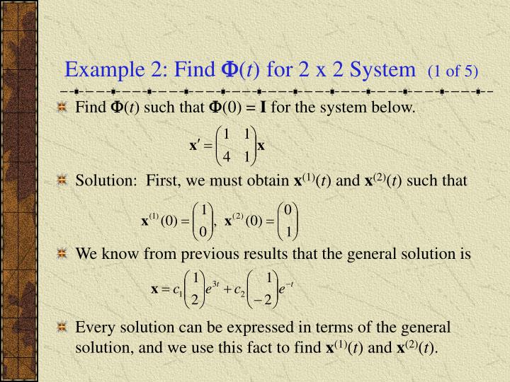 Example 2: Find