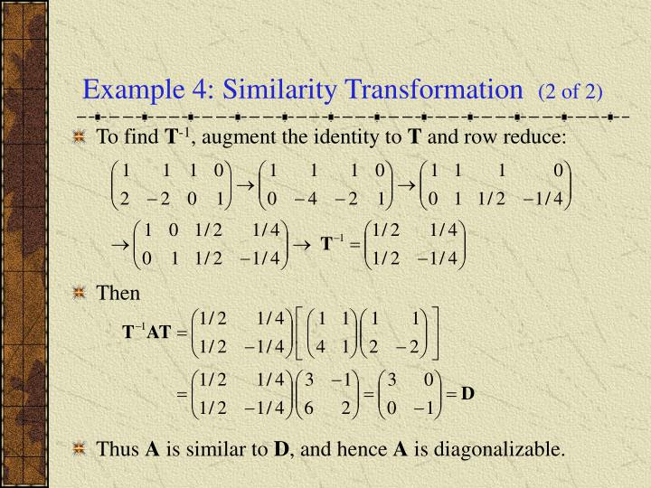 Example 4: Similarity Transformation