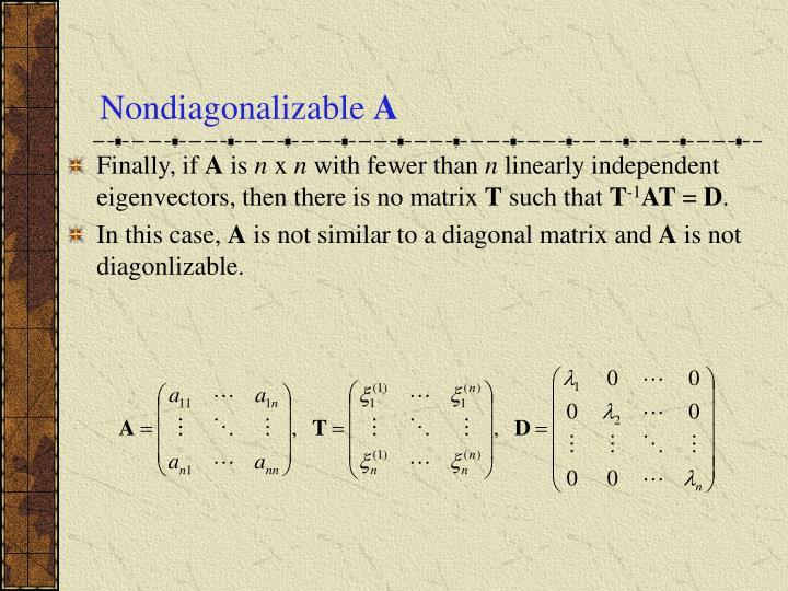 Nondiagonalizable