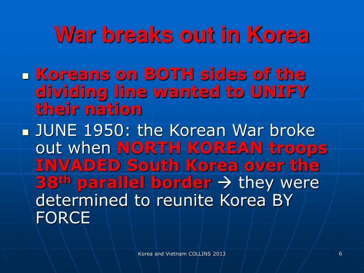 War breaks out in Korea