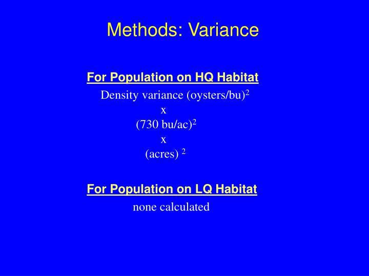 Methods: Variance