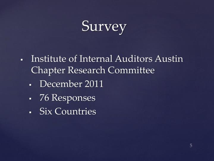 Institute of Internal Auditors Austin Chapter Research Committee