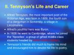 ii tennyson s life and career