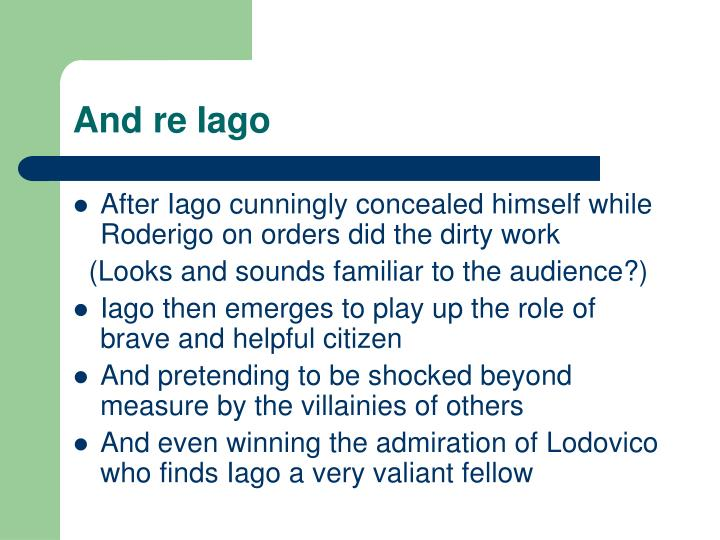 And re Iago